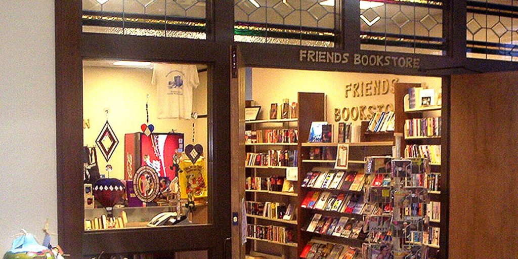 See inside the friends of the library book store